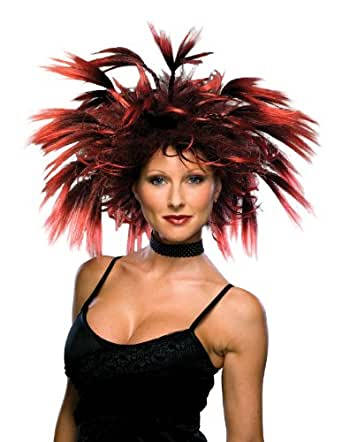 Rubie's Costume Frenzy Wig, Black/Red, One Size