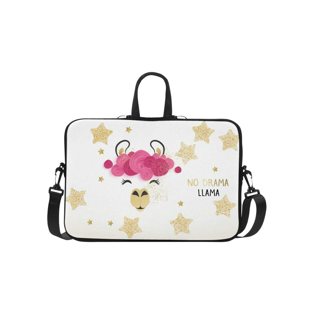 c4bfa7afa6fa Amazon.com: InterestPrint Cute Llama with Golden Glitter Stars and ...