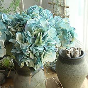 YLCOYO Flowers, Artificial Silk Fake Flowers Peony Floral Wedding Bouquet Bridal Hydrangea Decor (C) 3