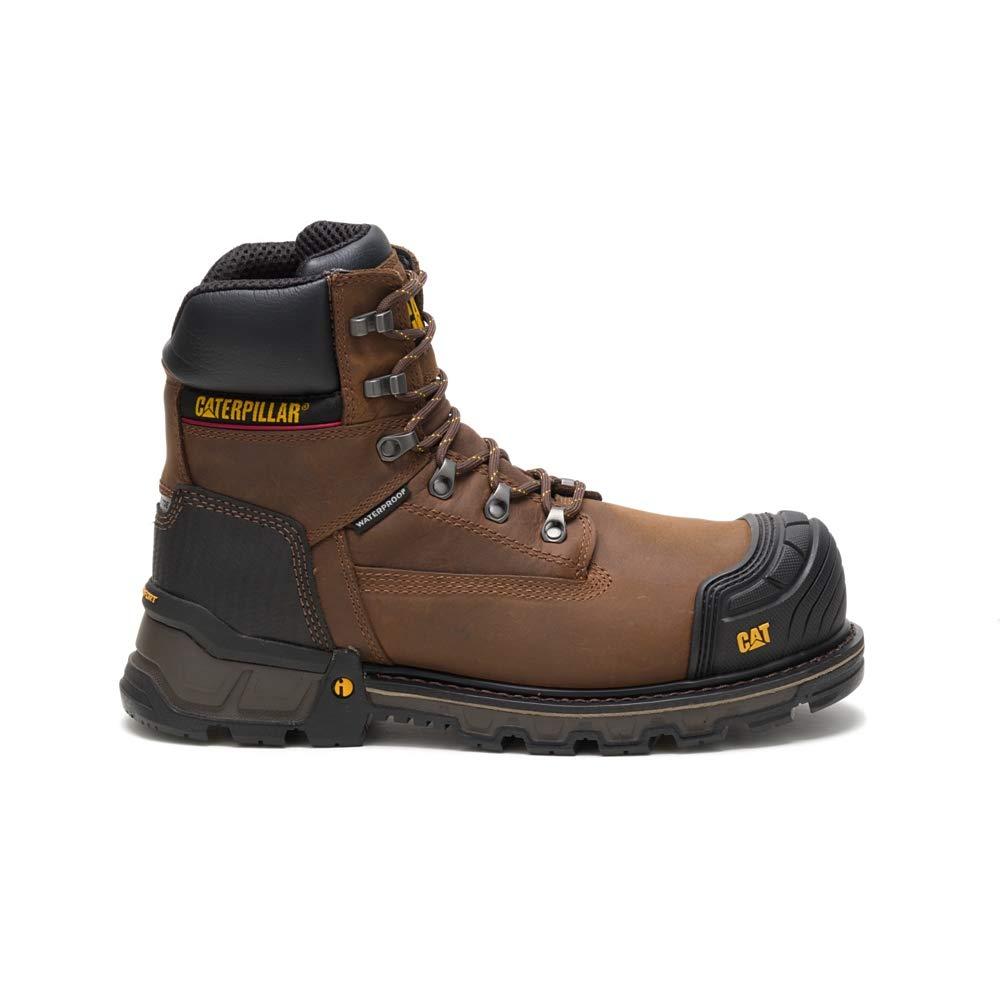 Dark Brown Caterpillar Excavator XL 6  Waterproof Composite Toe Work Boot Men's