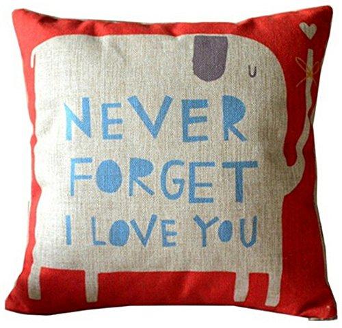 Forget Elephant Cotton Cushion Decorative