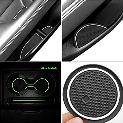 Auovo Anti Dust Mats for Mazda CX-5 CX5 2020-2020 Custom Fit Door Compartment Cup Holder Center Console Liners Interior Accessories(18pcs/Set) (White,Glow in Dark): Automotive