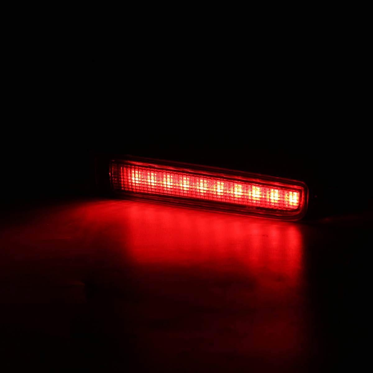 TOOGOO 2 Pi/èCes Voiture Troisi/èMe Lumi/èRe de Frein Haute Porte de Frein Arri/èRe Lumi/èRe de Frein Arri/èRe Haute Lampe de Montage Haute pour T5 T6 pour Multivan Caravelle 2003-2016 Noir