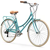 "sixthreezero Ride in The Park Women's 7-Speed City Road Bicycle, Blue, 17"" Frame/700x32c Wheels"
