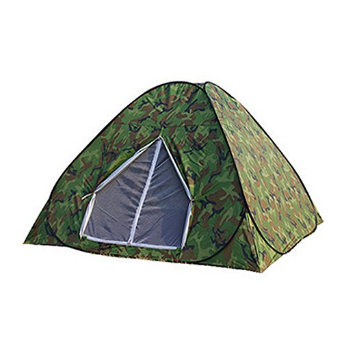 Ezyoutdoor 2 Person Tent - Lightweight Aluminum Pole,Waterproof Flysheet,Windproof Tent for (Fancy Plant Mat)