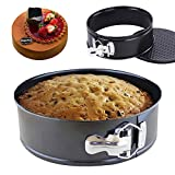 "iPstyle Non Stick Round Springform Cake Pan 9 inch springform pan Cheesecake Pan Leakproof Cake Pan Bakeware Loose Base Cake Baking Tin Interlocking Bakeware (Round - 9"" 22CM)"
