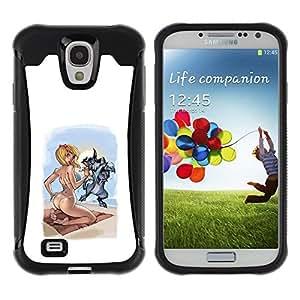 Suave TPU GEL Carcasa Funda Silicona Blando Estuche Caso de protección (para) Samsung Galaxy S4 IV I9500 / CECELL Phone case / / sexy drawing woman babe girl blonde /