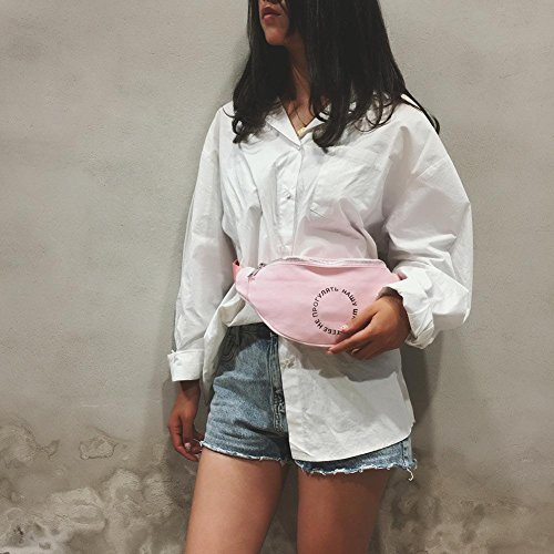Pouch Fanny Shoulder Chest Canvas Waist Bag Pack Women Pink Casual Satchel Ecotrump Belt UFAwaq