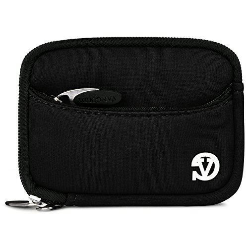 VanGoddy Mini Glove Sleeve Pouch Case for Canon PowerShot S120, S110, S100, S95, S90 Point & Shoot Digital Cameras (Black)