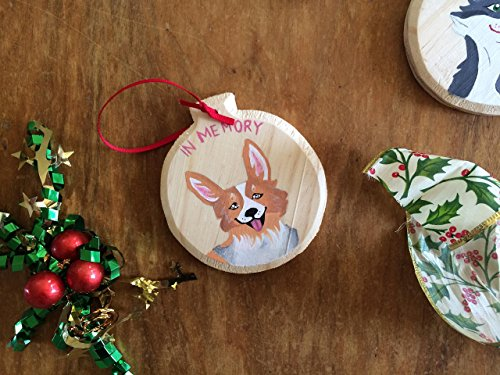 Customized Pet Ornament ~ Hand Painted! Cherish the memory of a loved pet