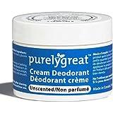 Purelygreat Natural Deodorant Aluminum Free Unscented - EWG Verified - Vegan