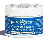 Purelygreat Natural Deodorant Aluminum Free Unscented - EWG Verified - Vegan, Cruelty Free - No Aluminum, No Parabens, BPA Free - Essential Oils
