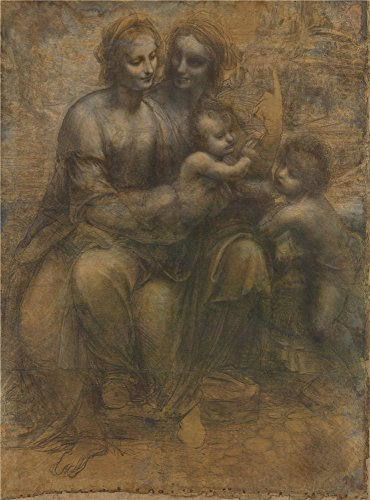 (Polyster Canvas ,the Cheap But High Quality Art Decorative Art Decorative Canvas Prints Of Oil Painting 'Leonardo Da Vinci The Leonardo Cartoon ', 8 X 11 Inch / 20 X 27 Cm Is Best For Home Theater Decor And Home Gallery Art And Gifts )