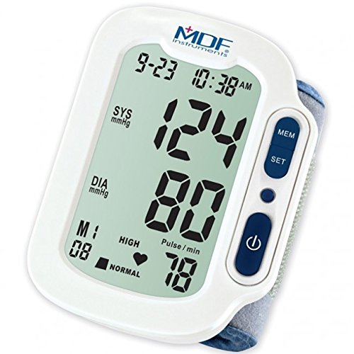 MDF® Lenus® Digital Blood Pressure Monitor with Adult Sized Cuff Included - Wrist - Navy Blue/White (MDFBP1504-29)