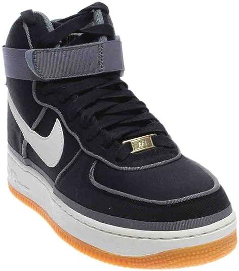 1ac0a46765e NIKE AIR FORCE ONE HI 07 LV8 NEGRO/BLANCO HOMBRE 44 Negro: Amazon.es:  Zapatos y complementos