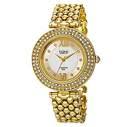 Crystal Accented 10 Diamond Hour Marker Watch