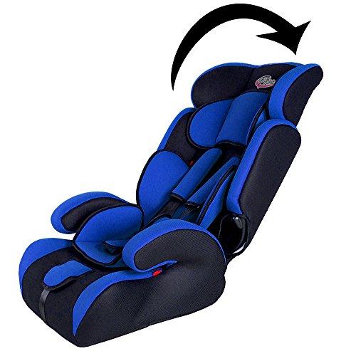 Tectake silla de coche para ni os grupos 1 2 3 pesos de 9 36 kg negro azul - Tectake silla de coche para ninos ...