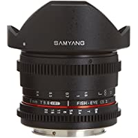 Samyang Cine SYHD8MV-C HD 8mm t/3.8 Fisheye Lens with De-Clicked Aperture and Removable Hood for Canon