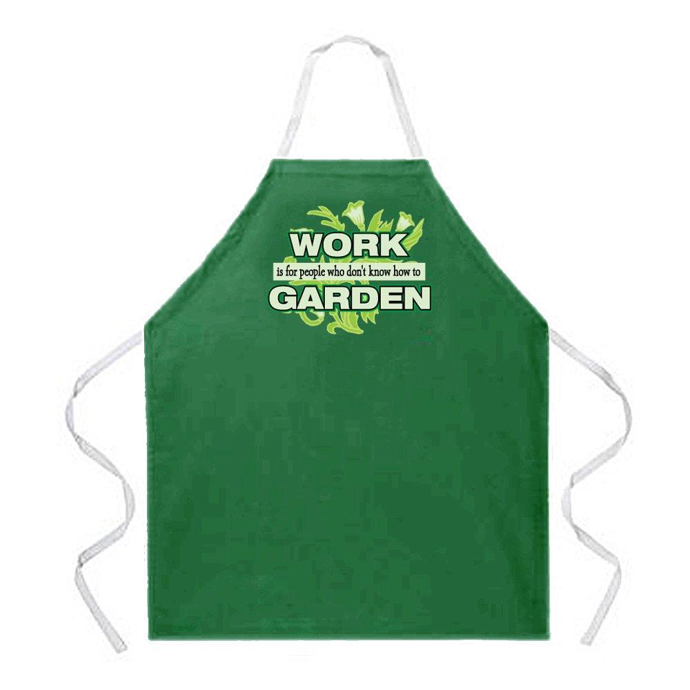 Attitude Apron Work Garden Apron, Green, One Size Fits Most Attitude Aprons 2177