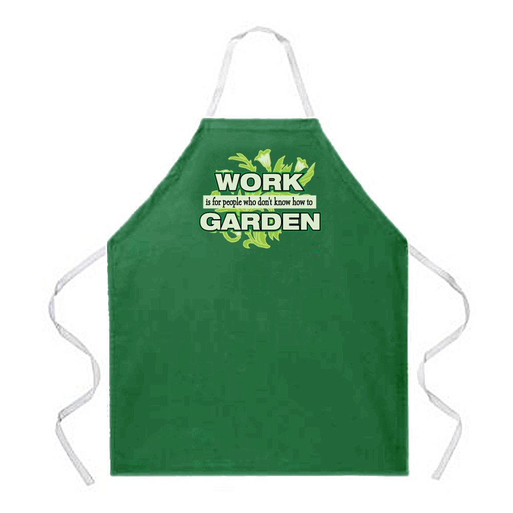 Attitude Aprons Work Garden Apron, Green, One Size Fits Most