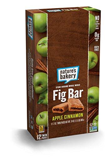 Nature's Bakery Whole Wheat Fig Bar, Vegan + Non-GMO, Apple Cinnamon (12 Count)