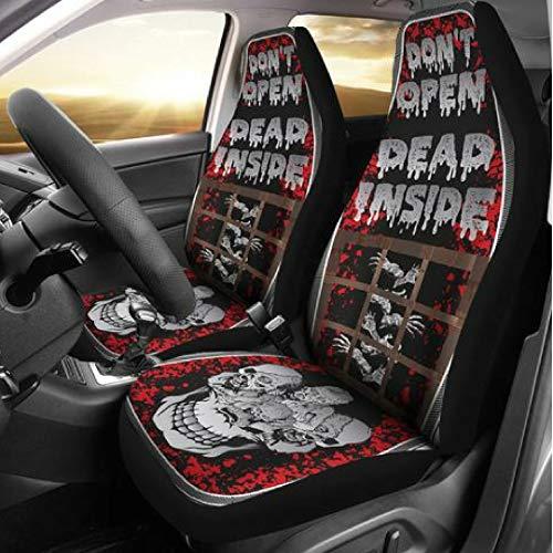 Muggalicious Don't Open Dead Inside Zombie Walking Dead Universal Seat Cover Set -