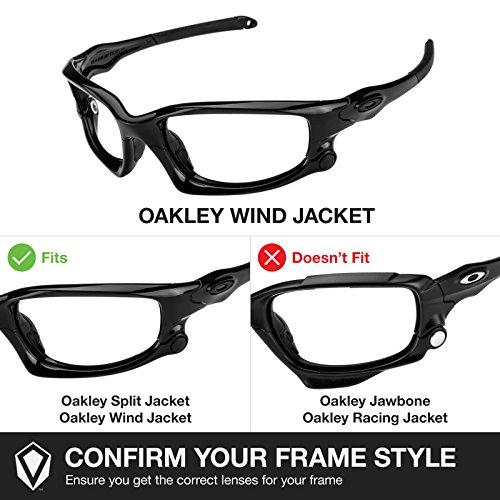 Revant Lenses for Oakley Wind Jacket Polarized Emerald Green AF