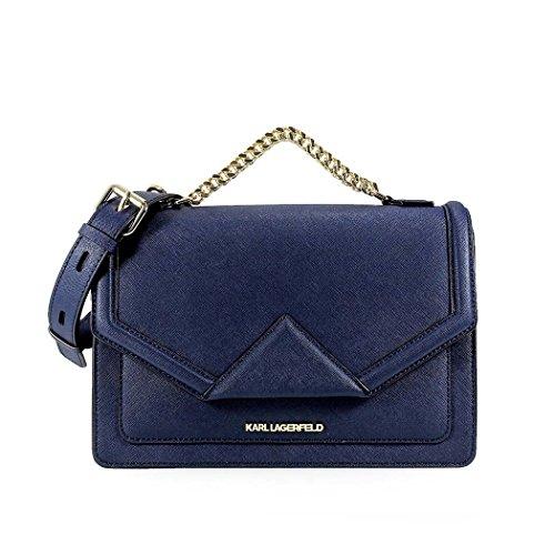 Karl Lagerfeld Ladies Cokw0012 Borsa A Tracolla In Pelle Blu
