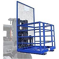 Plataforma jaula de seguridad montacargas carretilla elevadora Carga