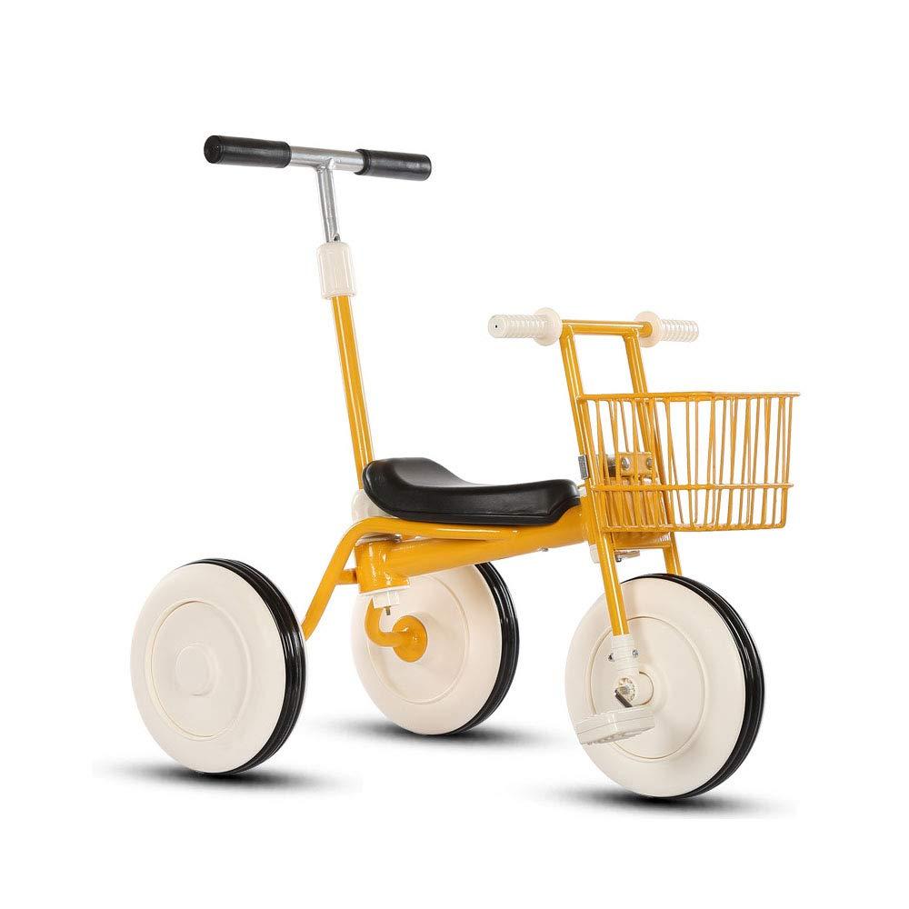 comprar descuentos amarillo HYRL HYRL HYRL Triciclo de los niños Bicicleta portátil Cochecito de bebé Bicicleta bebé Walker Triciclo de equitación Juguetes (26 años de Edad),amarillo  mejor calidad mejor precio