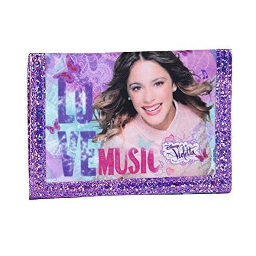 5 X Disney Violetta - Porte-monnaie; violet, 12 cm x 9 cm