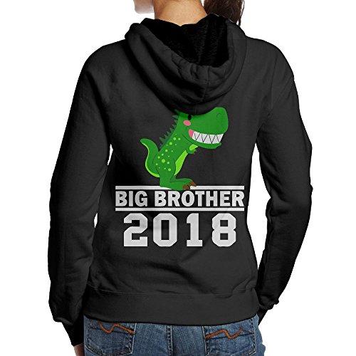 Big Boy Burger Costume (T-Rex Dinosaur Big Brother Est Women's Pullover Hoodie Sweatshirt Back Print Hoodies)