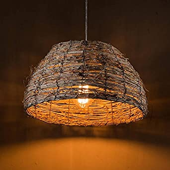 arturesthome handmade wicker shade rattan light shabby chic lighting