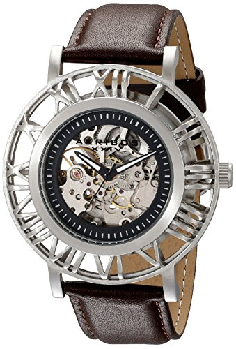 Akribos XXIV Men's AK551SS Stainless Steel Automatic Skeleton Strap Watch