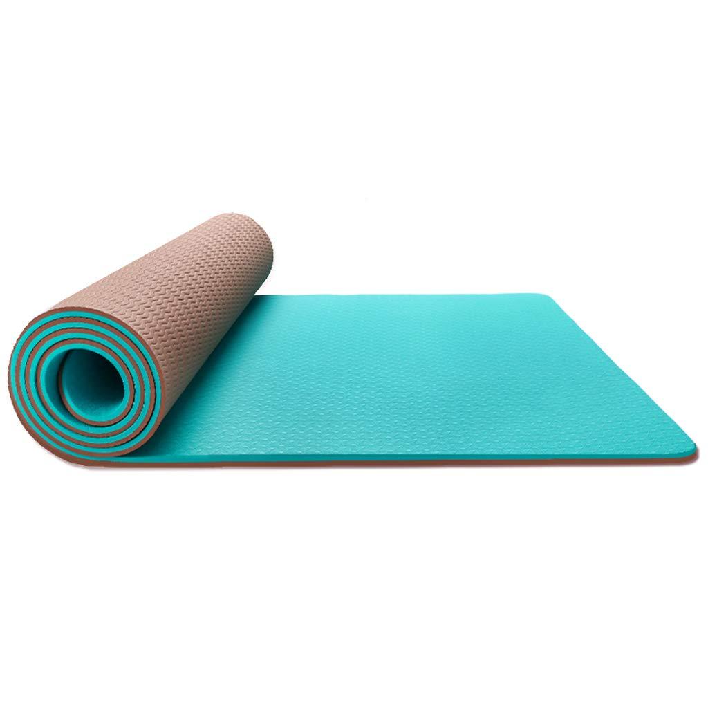 Bleu ZHAO YING Tapis De Yoga TPE - épaississement - élargissement - Allongement - Débutant - sans Parfum - Antidérapant - Tapis De Yoga 6mm