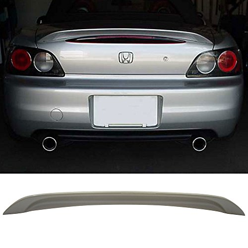 2001 Factory Spoilers - Trunk Spoiler Fits 2000-2009 Honda S2000 | OE Style Unpainted ABS Added On Lip Wing Bodykits by IKON MOTORSPORTS | 2000 2001 2002 2003 2004 2005 2006 2007 2008 2009