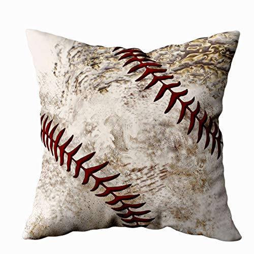 - Shorping Zippered Pillow Covers Pillowcases 16X16 Inch super cool round dirty baseball for guys Decorative Throw Pillow Cover ,Pillow Cases Cushion Cover for Home Sofa Bedding