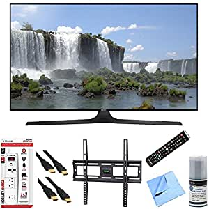 Samsung UN55J6300 55-Inch Full HD 1080p 120hz Smart LED HDTV Slim Flat Wall Mount Bundle includes 55-Inch Full HD TV, Slim Flat Wall Mount Kit, 6 Outlet Wall Tap w/ 2 USB Ports and Beach Camera Cloth
