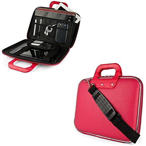 PU Leather Laptop Sleeve Case Cover Shoulder Bag Briefcase 1