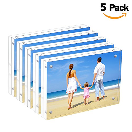 Galleon Bulk Acrylic Picture Frames 4x6 Clear Double Sided Block