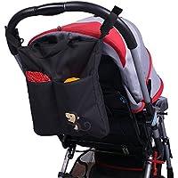 PPOGOO Baby Stroller Organizer Large Capacity (Black)