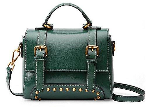 Femme bandoulière à Sac sac en femme pour Messenger XinMaoYuan Sac main petite cuir rétro cuir en place style Green Mobile 4O5zxw5aq