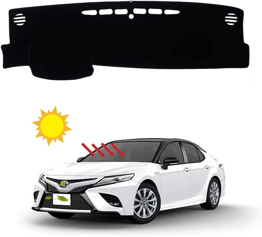 BLAKAYA Compatible with Auto Car Dashboard Carpet Dash Board Cover Mat Dash Protector for 2018 2019 Toyota Camry Sun Cover Pad