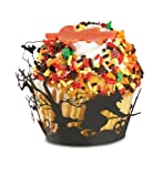 Fox Run Brands 7152 Halloween Witch Cupcake Wrappers, Black