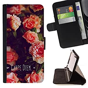 Jordan Colourful Shop - carpe diem day flowers quote For Apple Iphone 5C - Leather Case Absorci???¡¯???€????€?????????&Ati