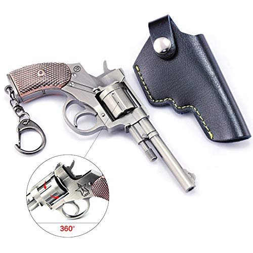 Games Eat Chicken Metal 1/6 1911 P92 P18C R45 Pistol Revolver Rifle Model Action Figure Arts Toys Collection Keychain Gift (R1895)