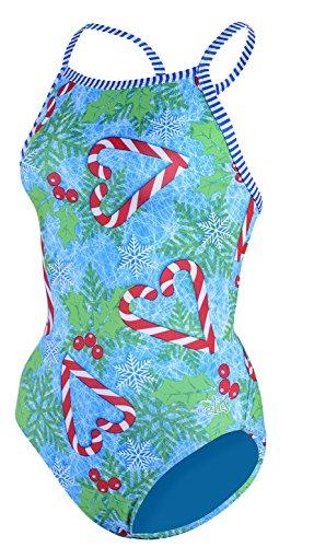 Dolfin Little Dolfins Uglies Holly Jolly Swimsuit (2T)
