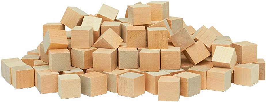 Unfinished wood blocks Blocks with extra sanded corners| Square blocks Set of 10 pine wooden blocks Wooden cubes 4 cm 1 12 inch