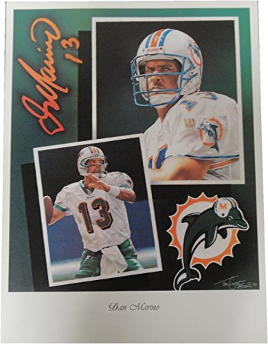 igned Lithograph Poster Print Miami Dolphins New ()