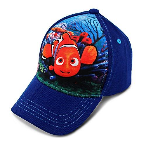 Disney Toddler Girls' Finding Nemo Character 3D Pop Baseball Cap, White/Blue, Age 2-4 -